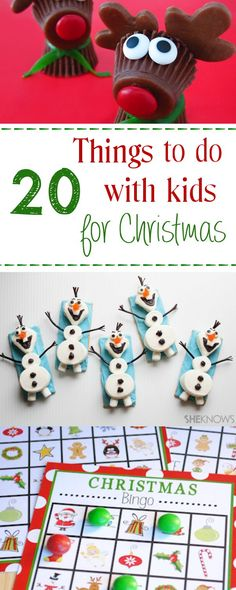 20 Fun Ideas of Things to do with Kids this Christmas #kidsactivities #kidscrafts #christmas