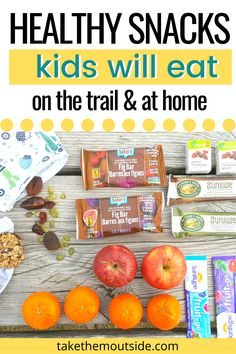 Healthy hiking and camping snacks for kids and families.  Also get tips for how to store and prepare your hiking foods.  #hikingwithkids #snacksforkids
