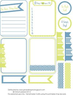 Gina's Designs: Freebie Friday - So Much Fun. chevron, stripes. simple enough these could be used with various spreads