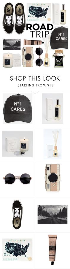 """Rev It Up: Road Trip Style"" by jayeniemiaustralia ❤ liked on Polyvore featuring Ashley Stewart, Kate Spade, Vans, Leah Flores and Aesop"