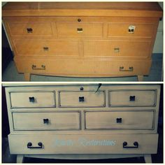 Vintage Chest before and after Vintage Chest, Rarity, Restoration, Dresser, Antiques, Furniture, Home Decor, Antiquities, Powder Room