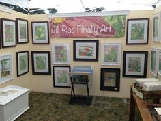 My husband Mark is incredibly supportive. He has always encouraged my art career. He's the one who designed my  Art Fair Booth. I'm very grateful to have him as a partner.  http://www.jillraefinallyart.com/index.php