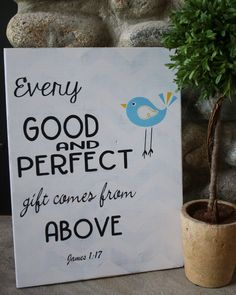 Wood sign - Every good and perfect gift - BDD