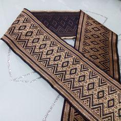 10cm 4' rhombus zigzag black light Gold Geometric silk glossy trim curtain laciness national jacquard ribbon embroidery webbbing