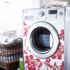 Sick of the sight of your washing machine? Why not get the kids to help decorate it with removable stickers? It will add instant colour to a dull space.