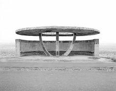 Eriwan-Gjumri/ Ursula Schulz-Dornburg, Bus stop in Armenia. Bauhaus, Concrete Architecture, Art And Architecture, Bus Stop Design, Urban Furniture, Brutalist, Armenia, Pergola, Industrial
