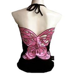☮✿★ FASHION ✝☯★☮ Rockabilly Punk Rock Baby Butterfly Star Tank Top Shirt