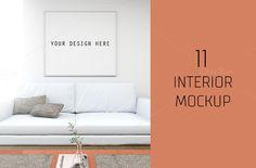 Mockup interior with frame   @creativework247