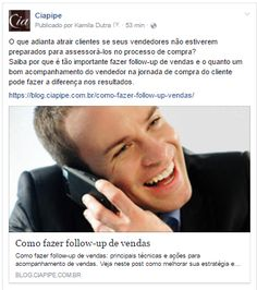 Facebook CiapipeFollow-up de vendas