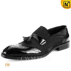 CWMALLS® Patent Leather Wingtip Tasseled Loafers CW716037 Designer tasseled loafers made of patent leather and cowhair upper,CWMALLS wingtip loafers designed in slip on style, double tassel detail at vamp, wingtip details,and special cowhair. Shop stylish dress loafers at CWMALLS factory store. www.cwmalls.com PayPal Available (Price: $235.89) Email:sales@cwmalls.com