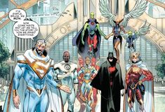 I'm interested to learn more about this potential future & what the League will learn from their counterparts. PS: Which of member of Justice League of Tomorrow has the best design? Arte Dc Comics, Dc Comics Heroes, League Of Tomorrow, Comic Books Art, Comic Art, Comic Character, Character Design, Character Inspiration, New Justice League