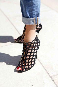 Stylish Sandals - Street Style Shoe Photos