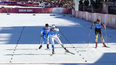 Anchor of the Swedish team Charlotte Kalla erased a 25-second deficit on the final leg of the women's cross country 4x5 relay and won a three-way sprint. Sochi 2014