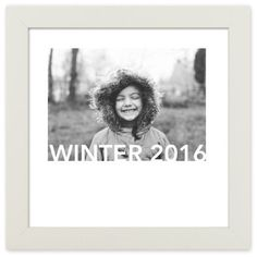 Standout Type Gallery Art Print, White, Pearl Shimmer Card Stock, 12x12, White