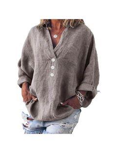 Dress Shirts For Women, Blouses For Women, Long Sleeve Tops, Long Sleeve Shirts, Casual Tops For Women, Loose Tops, Casual T Shirts, Types Of Sleeves, Plus Size Fashion