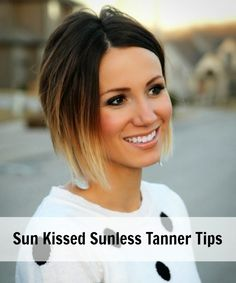 ONE little MOMMA: Sunless Tanning - My Tanning Routine and Self Tanner Tips...on a side note, I love her hair