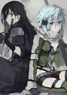 Sword Art Online | A-1 Pictures | Reki Kawahara | abec / Kirito and Sinon / 「無題」/「煮干」の漫画 [pixiv] [03]