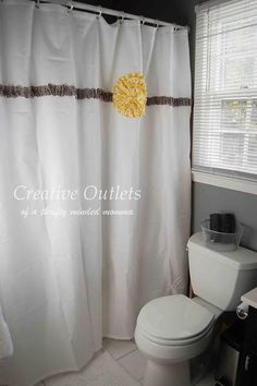 DIY home crafts DIY No Sew Shower Curtain DIY home crafts