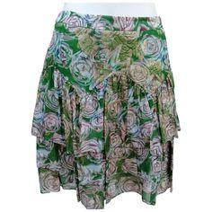 PAUL & JOE \N GREEN SKIRT. #pauljoe #cloth Paul Joe, Blouse, Outdoor Blanket, Green, Skirts, Clothes, Collection, Shopping, Style