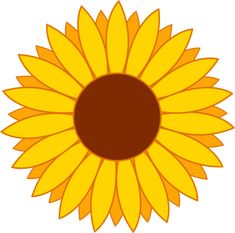 My free clip art of a cute yellow sunflower