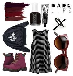 """""""Tiny"""" by ltmorris on Polyvore featuring Dr. Martens, Serge Lutens, Essie and Emi Jewellery"""