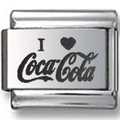 I love Coca-Cola Italian Charm