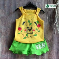 Vietnam Children Clothing Export Manufacturers - veco.com.vn - 84 903625757 Short Niña, Short Girls, Second Baby Announcements, Baby Grill, T Shirt And Shorts, Hot Pants, Top Boy, Kids Outfits, Children Clothing