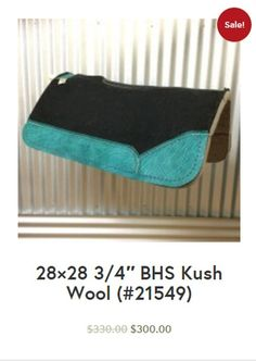 28×28 3/4″ BHS Kush Wool (#21549) $300.00 This pad comes with Turquoise Elephant – Purple Buck Stitch! Free Shipping! #besteverpads