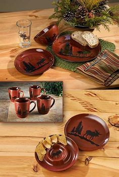 Woodland Dinnerware Stoneware-Moose  Wild Wings & Home Studio Woodland Dinnerware - Red | Decor Ideas | Pinterest ...