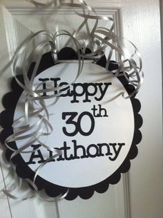 30th Birthday Party Decorations Giant Personalized Signs Parties 80th