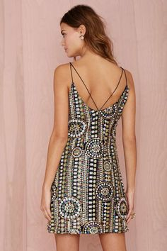 The Crazy Train Sequin Dress - Shift | Going Out | Clothes | Dresses | All | Disco | Sequins + Metallics | All