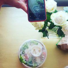 "Hier zu sehen ein ""Inpfluaenzer"" Mix. (aka Salat goes famous) #bloggerleben #freshfood #familienblog #elternblog"