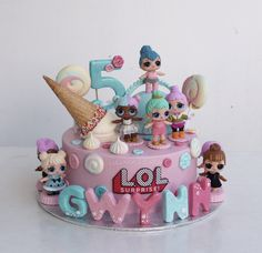 My daughters LOL Surprise Birthday Cake ! Funny Birthday Cakes, 6th Birthday Parties, Birthday Cake Girls, 7th Birthday, Birthday Ideas, Surprise Birthday, Baby Cakes, Cupcake Cakes, Little Girl Birthday