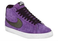 ugh i want these! Purple Sneakers, High Top Sneakers, Sneakers Nike, Purple Swag, Purple And Black, Nike Sb, Best Blazer, Nike Free, Style Me