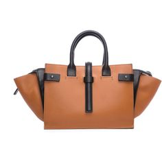 Costume National Ochre and Black Tote Bag (£1,713) ❤ liked on Polyvore featuring bags, handbags, tote bags, zip tote, black purse, handbags tote bags, zipper handbag and black handbags