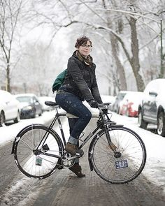 #letitsnow: 6 winter biking ladies - Eleanor's | Stylish Bicycle Accessories for Ladies