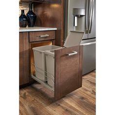 Kitchen Garbage Can Storage, Kitchen Trash Cans, Kitchen Waste, Kitchen Storage, Hidden Trash Can Kitchen, Trash Containers, Trash Bins, Rv Storage Solutions, Waste Container