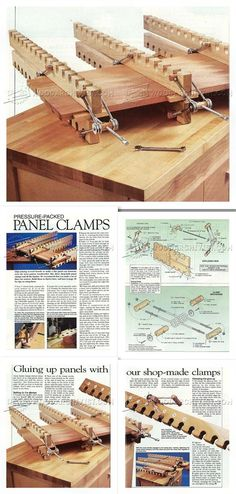 #644 DIY Panel Clamps - Panel Glue Up Tips, Jigs and Techniques http://woodarchivist.com/644-diy-panel-clamps/ Tags: #PanelClamp, #Woodworking, #Woodwork, #WoodworkingPlans