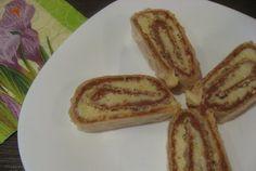 Retete Culinare - Rulada de napolitana cu nuca si nuca de cocos French Toast, Bacon, Bread, Breakfast, Food, Morning Coffee, Brot, Essen, Baking