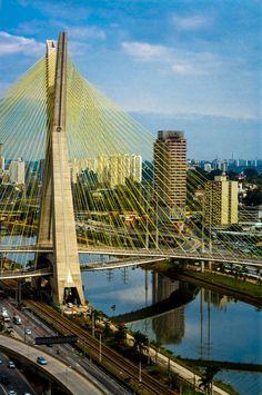 Ponte Estaiada Octávio Frias de Oliveira Bridge, Sao Paulo, Brazil by Daniel Precht on 500px