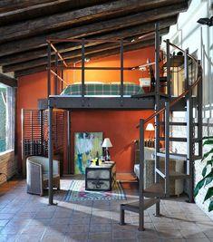 Space Saving Loft Beds by Expand Furniture preisvergleich Wall Bed vs. Lofts, Mezzanine Loft, Expand Furniture, Furniture Online, Stair Kits, Casas Containers, Modern Murphy Beds, Loft Room, Loft Wall