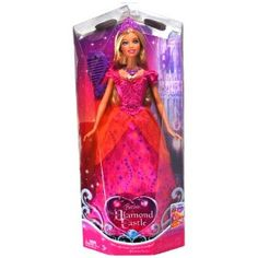 """Mattel Year 2008 Barbie DVD Series """"The Diamond Castle"""" 12 Inch Doll - Princess Liana with Elegant Pink Dress, Necklace, Tiara and Hairbrush (M9572) (Toy)  http://www.picter.org/?p=B005TBZS8O"""