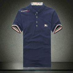 Classic Low Collar Polo Shirt Navy Pas cher Burberry Outlet, Cheap Burberry,  Burberry Scarf a5966262863