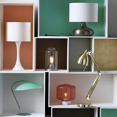 light capture. Sculptural glass dome shelters single utility bulb in modern nod to the vintage jar lamp. Compact brushed aluminum base perches as illuminating object on nightstand, side table, book shelf.
