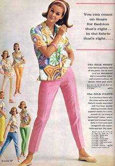 I actually like this vintage catalog outfit! From the Thrift Shop Commando: Pink Saturday Retro Fashion 60s, 1960s Fashion Women, Trendy Fashion, Vintage Fashion, Fashion Trends, Men Fashion, Fashion 2017, Fashion News, Fashion Online