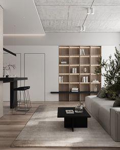 Living Room Modern, Home Living Room, Interior Design Living Room, Living Room Designs, Living Room Decor, Interior Decorating, Office Interior Design, Interior Design Inspiration, Shelving Design