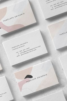 Penélope Business Card Template — The Denizen Co.