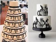 Resultado de imagem para bolo preto e branco