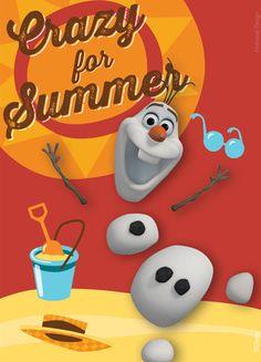 images of frozen's olaf in summer | Frozen - Olaf Crazy For Summer Magnet Prints