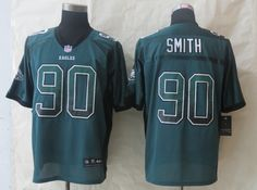 Cheap Wholesale 2014 Regular Season Mens Philadelphia Eagles #90 Marcus Smith Nike Drift Fashion Green Elite Jersey Size 40-56 Instock,Factory Price,Free Shipping,Contact US